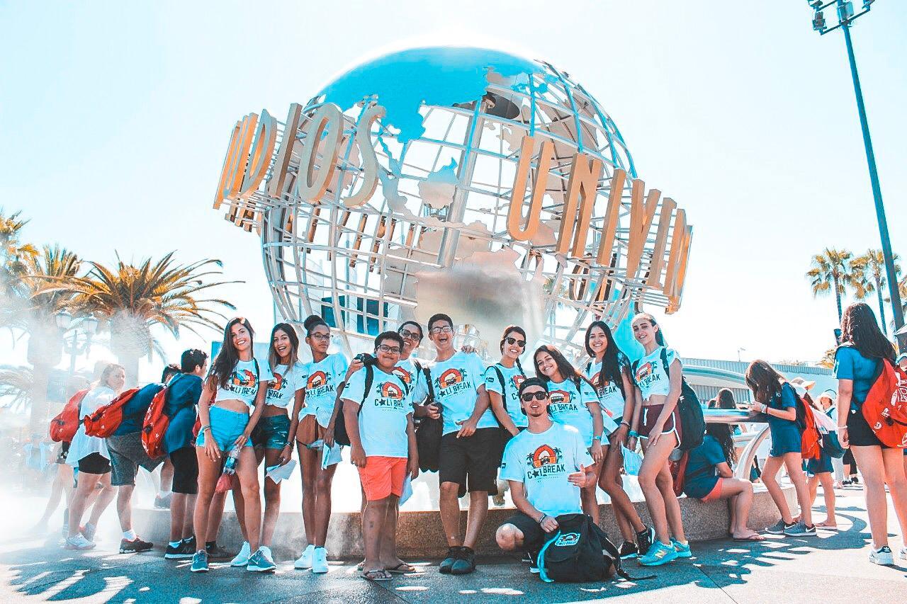 Turma de viajantes do Cali Break 2018 durante 20 dias de aprendizado na Califórnia