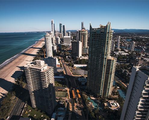 imagem panorâmica de Gold Coast