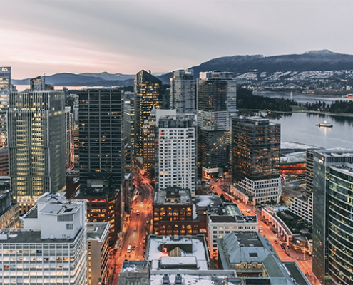 imagem panorâmica de Vancouver