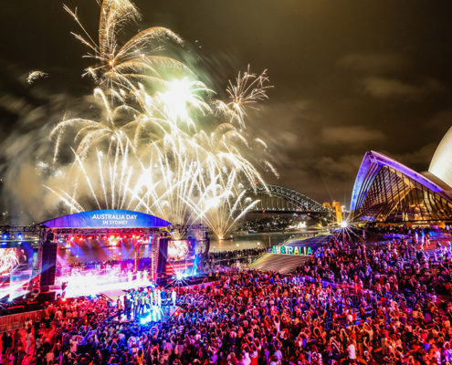 Vista panoramica do Australia Day em Sydney